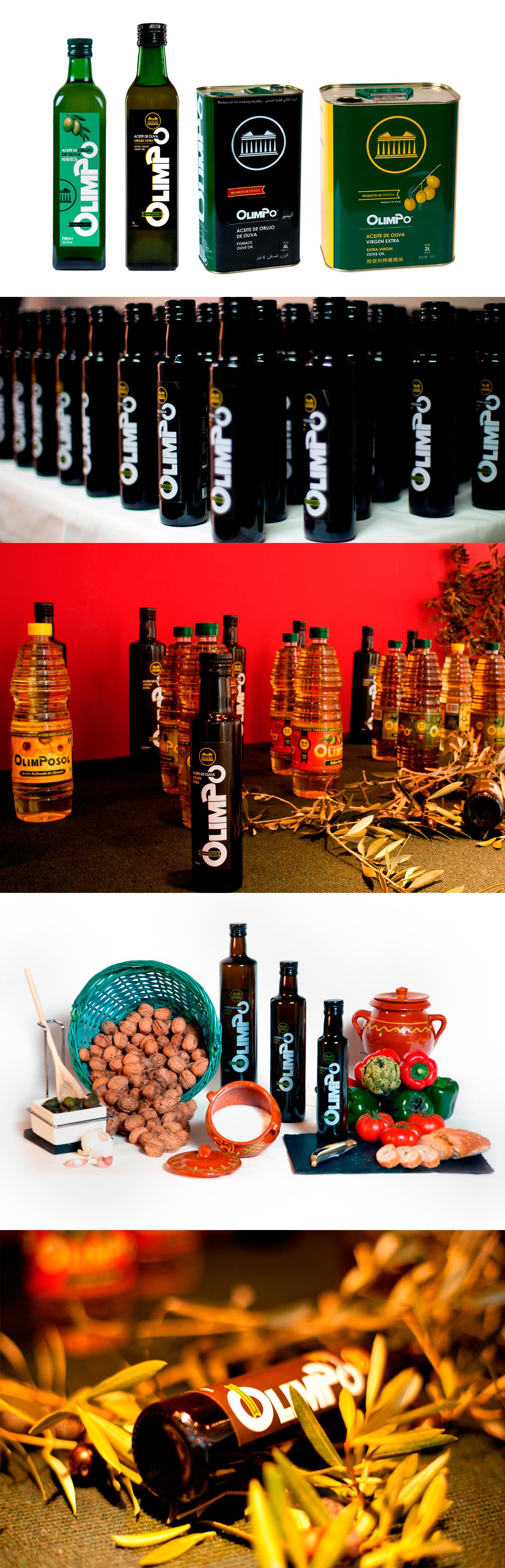 Diseño de catálogos, fotografía publicitaria Aceites Olimpo