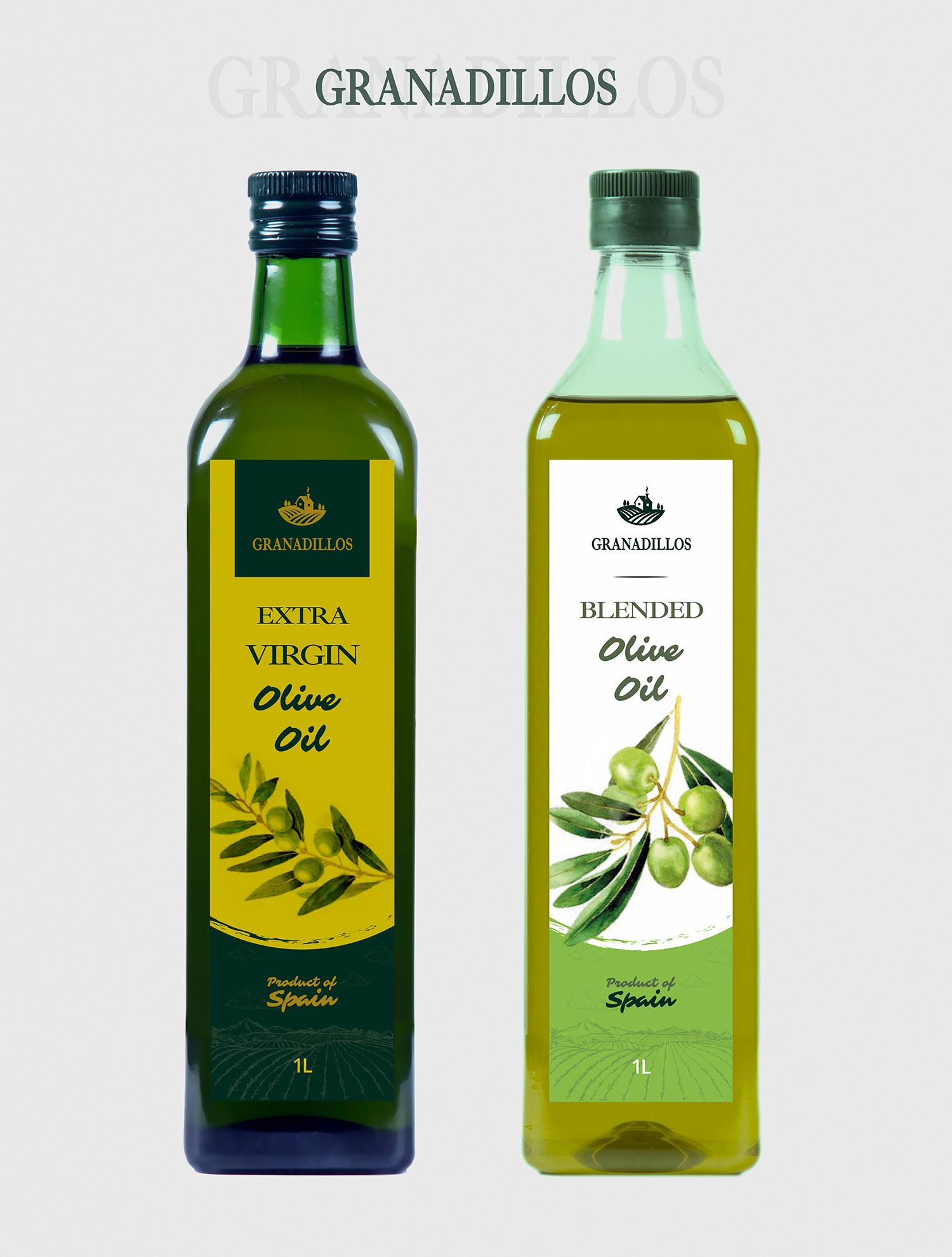 Diseño grafico, imprenta, diseño de etiquetas de aceite Albacete, diseño etiquetas Granadillos
