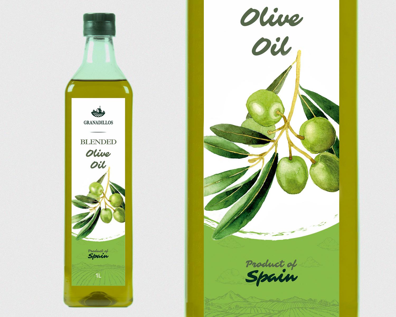 Diseño gráfico, Etiquetas, Packaging y Fotografía publicitaria Granadillos. Aceite de oliva suave