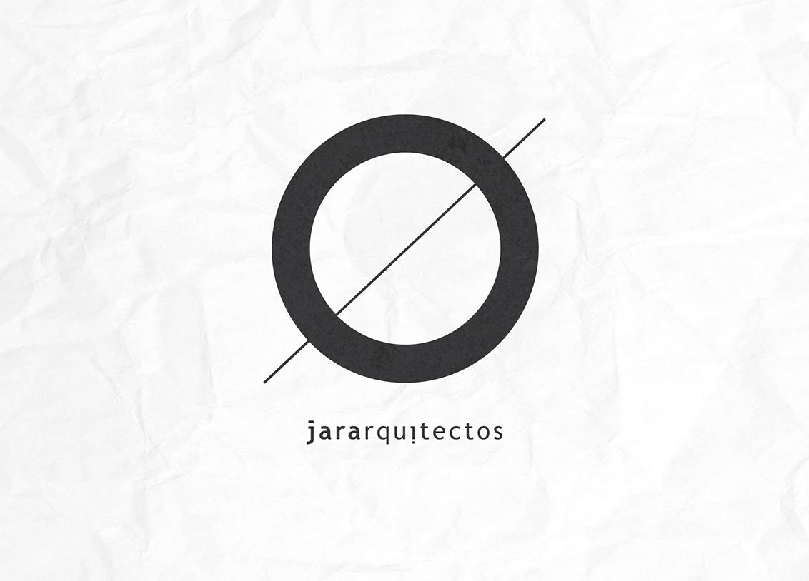 Diseño identidad corporativa Jara Arquitectos, marca sobre fondo blanco