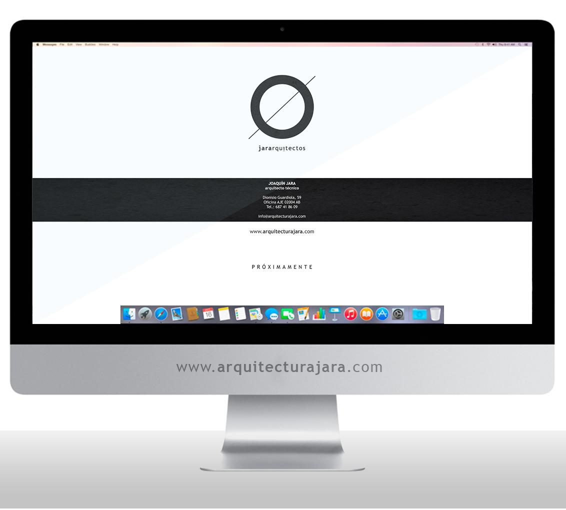 Diseño página web Jara Arquitectos