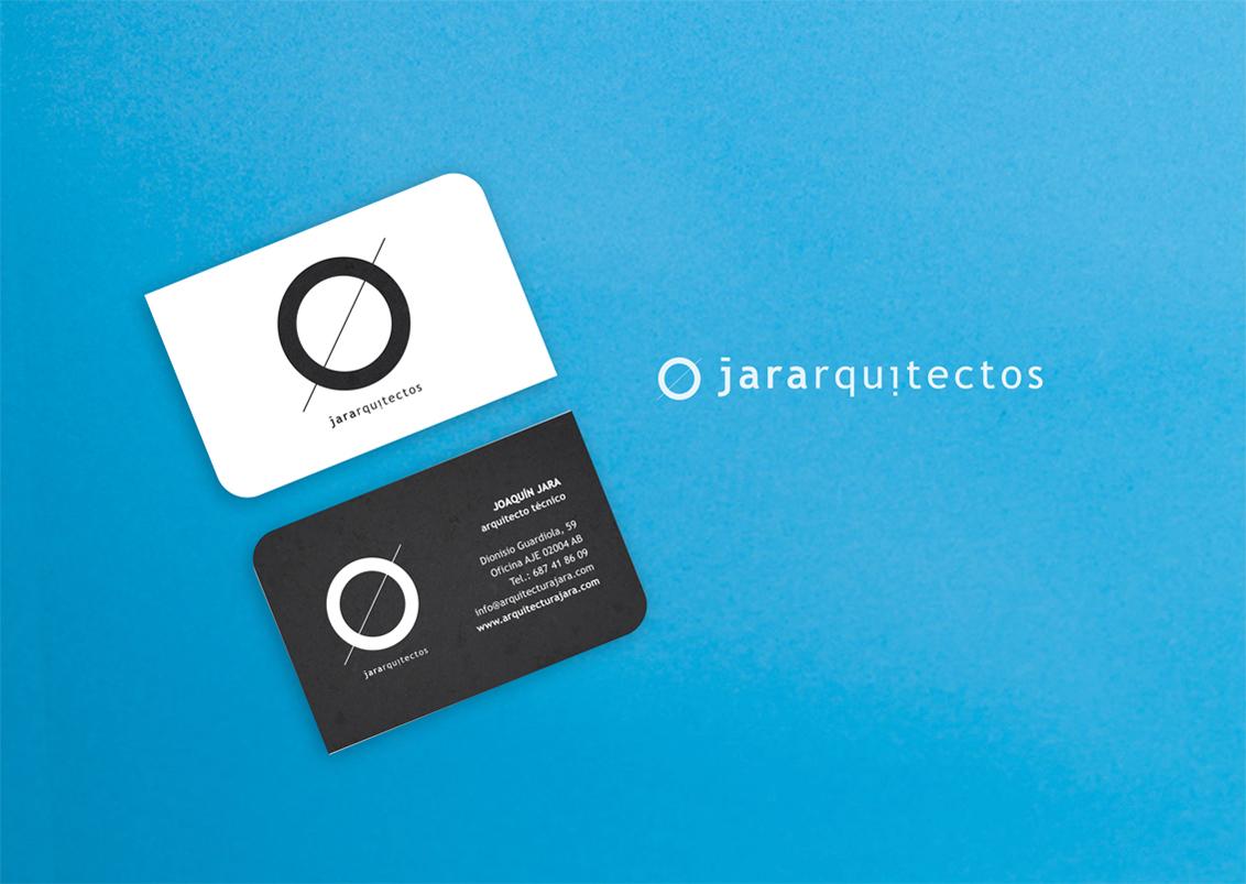 Diseño tarjetas de visita Jara Arquitectos