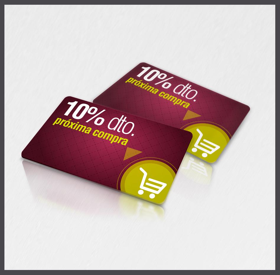 tarjetas plásticas descuento