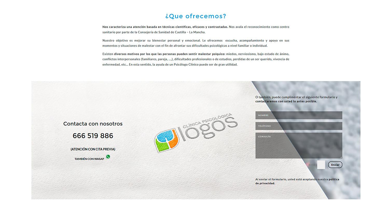 Diseño y programación web, diseño de web corporativa para Logos