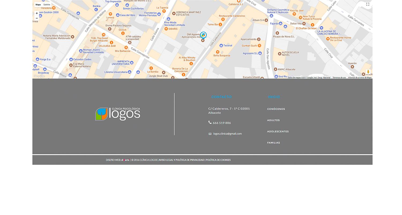 Programación web, diseño de página web corporativa para Logos