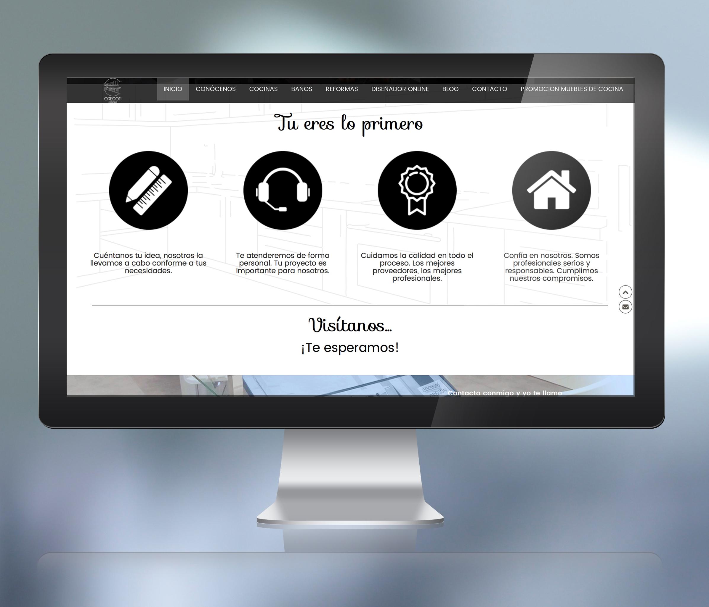 Diseño web albacete, restyling de logotipo, diseño gráfico y programación página web Cocinas Oregón