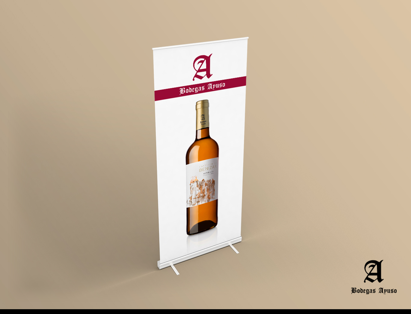 Diseño gráfico Albacete, diseño de rollup e impresión de rollup Bodegas Ayuso