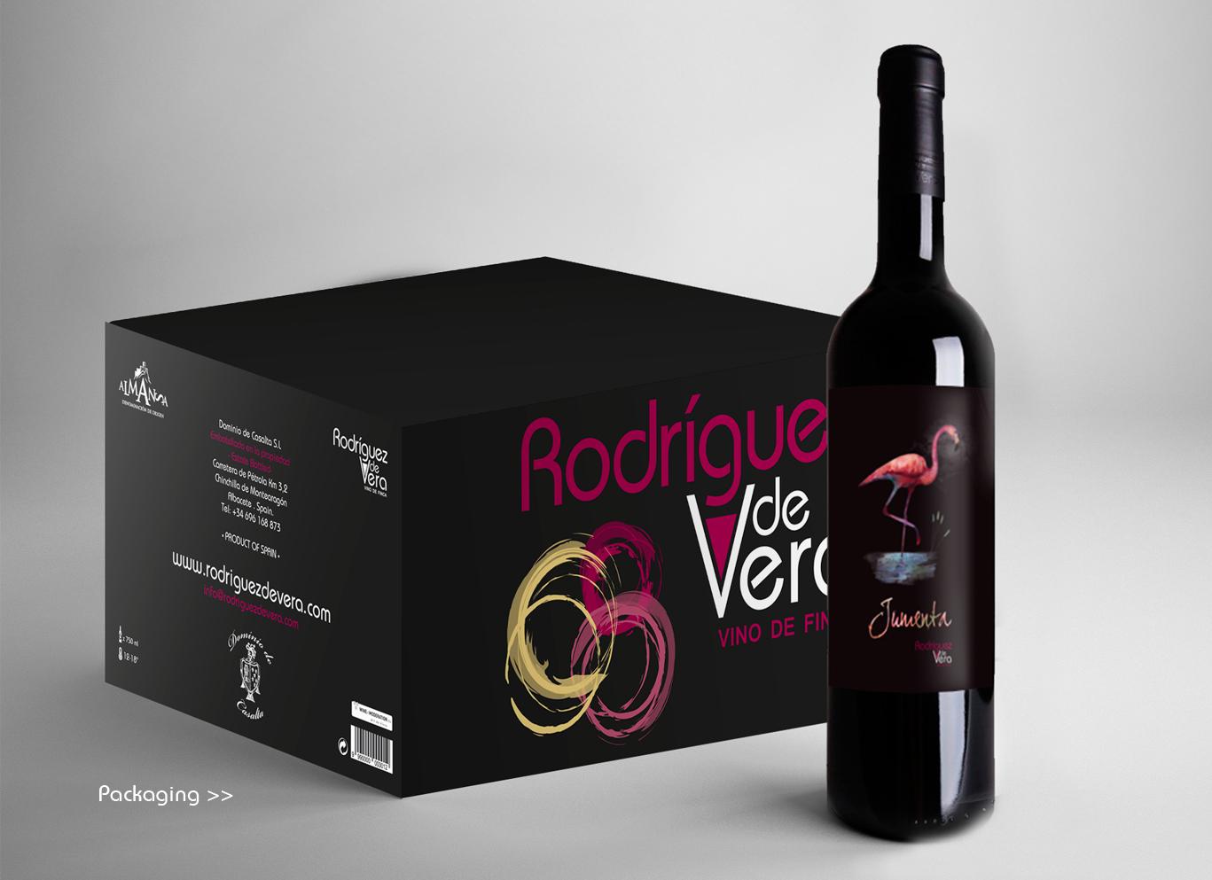 Diseño gráfico Albacete, packaging albacete, diseño packaging, diseño packaging vino, Rodríguez de Vera