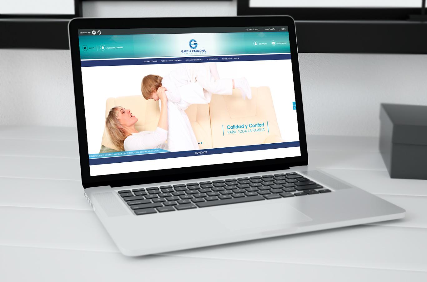 Diseño web Albacete, diseño de tienda online, programación y posicionamiento página web García Carmona Suministros