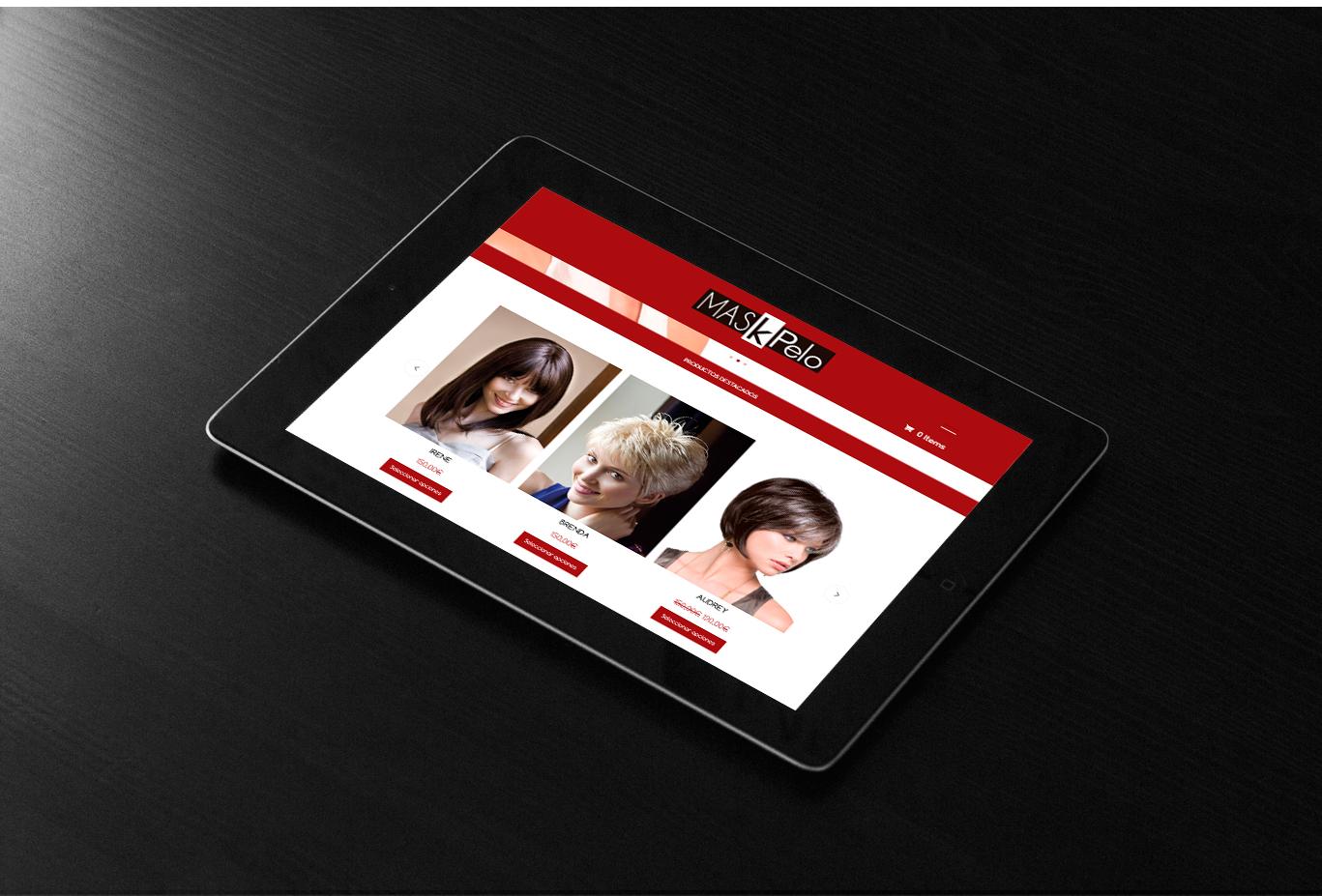 Diseño web, diseño de tienda online responsive, programación y posicionamiento página web Maskepelo