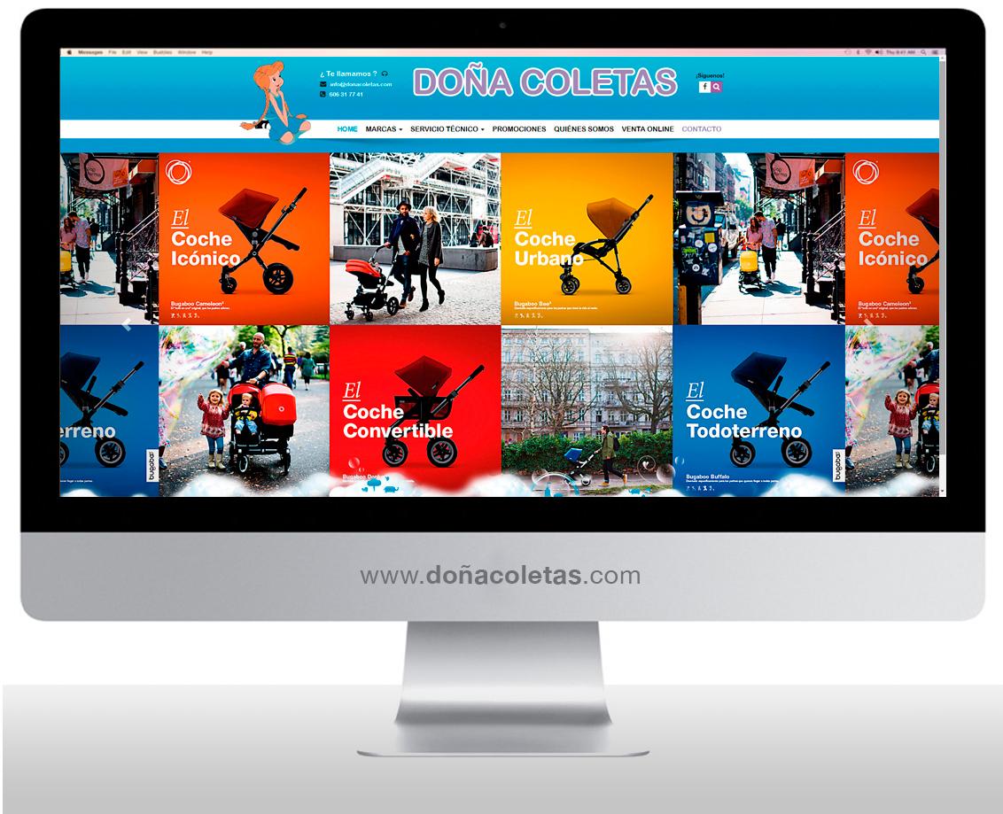 Diseño web y posicionamiento de página web Doña Coletas