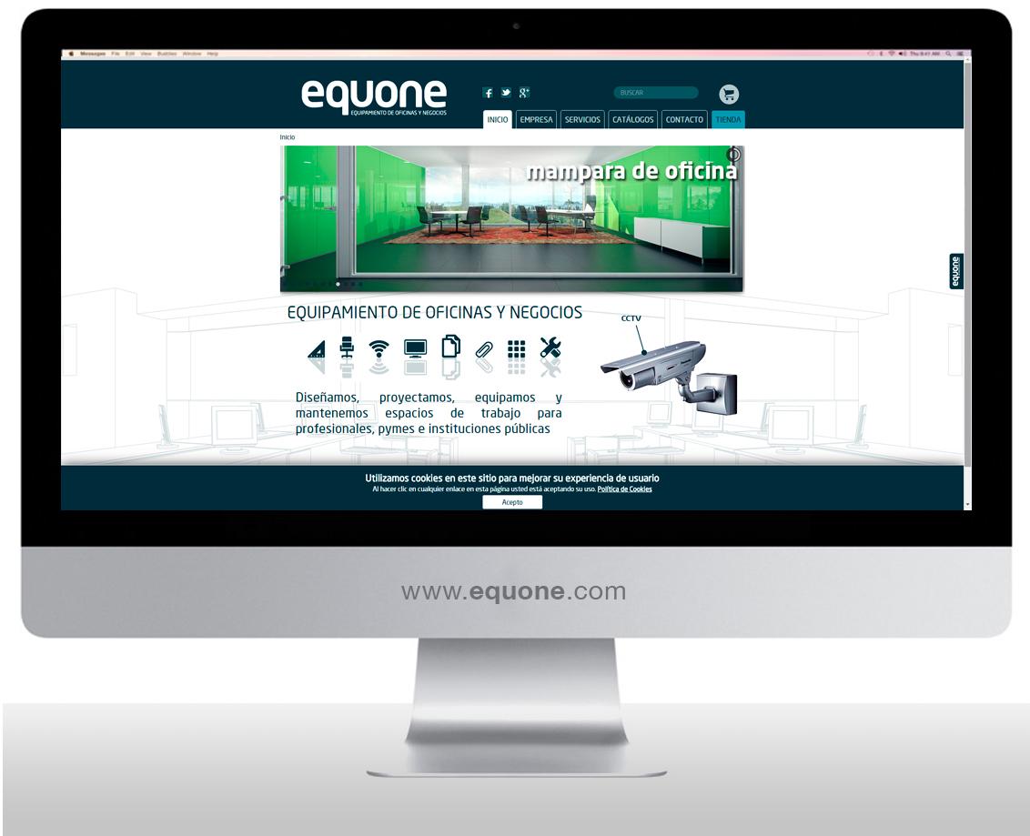 Imagen de la web, diseño web Albacete, Home Ecuone, programación y posicionamiento página web Equone