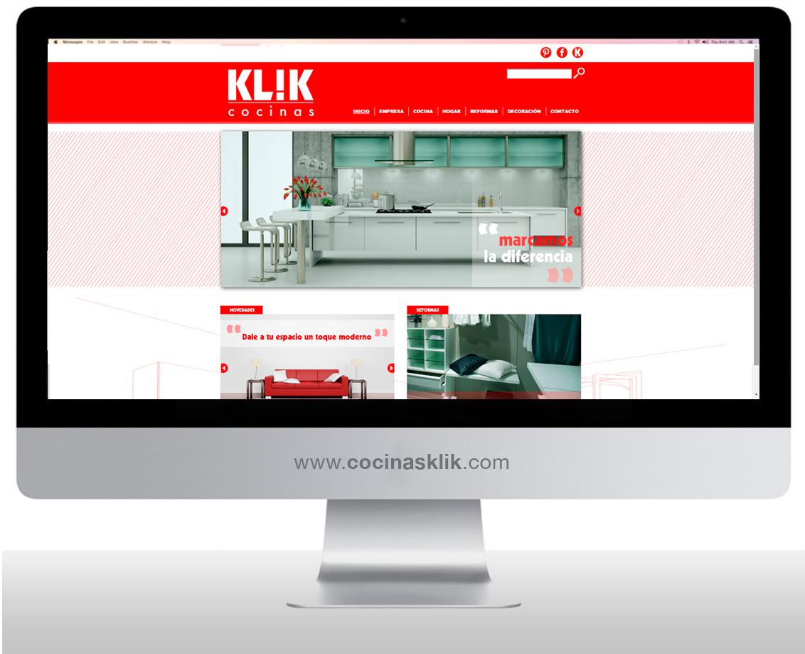 Página web Klik Cocinas Albacete