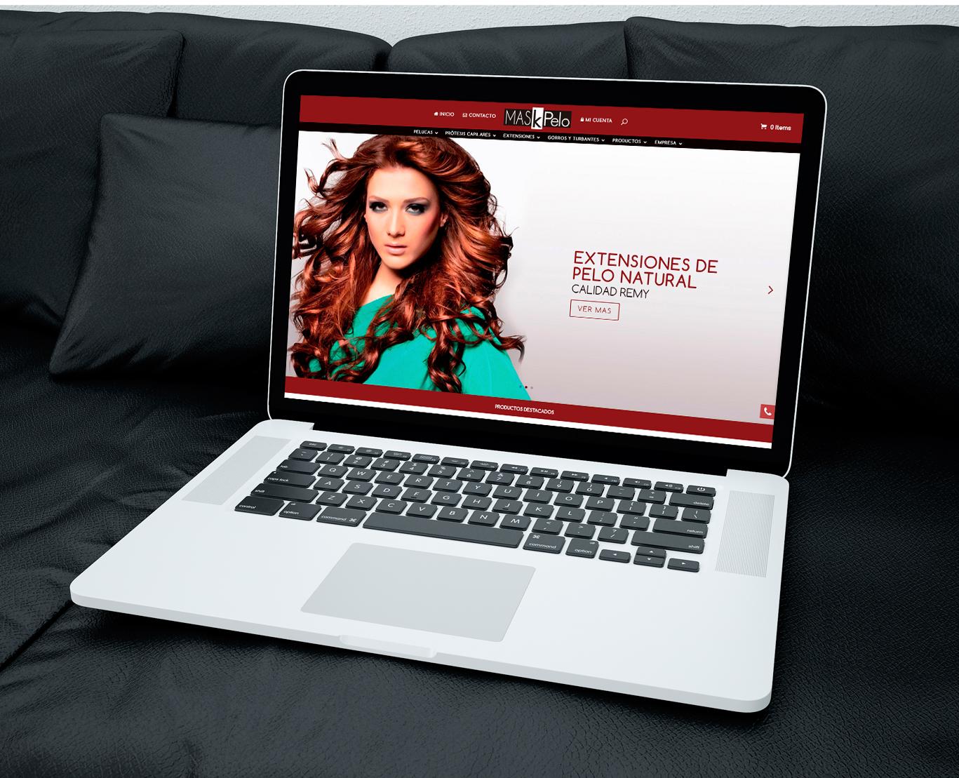 Diseño web, diseño de tienda online, programación y posicionamiento página web Maskepelo