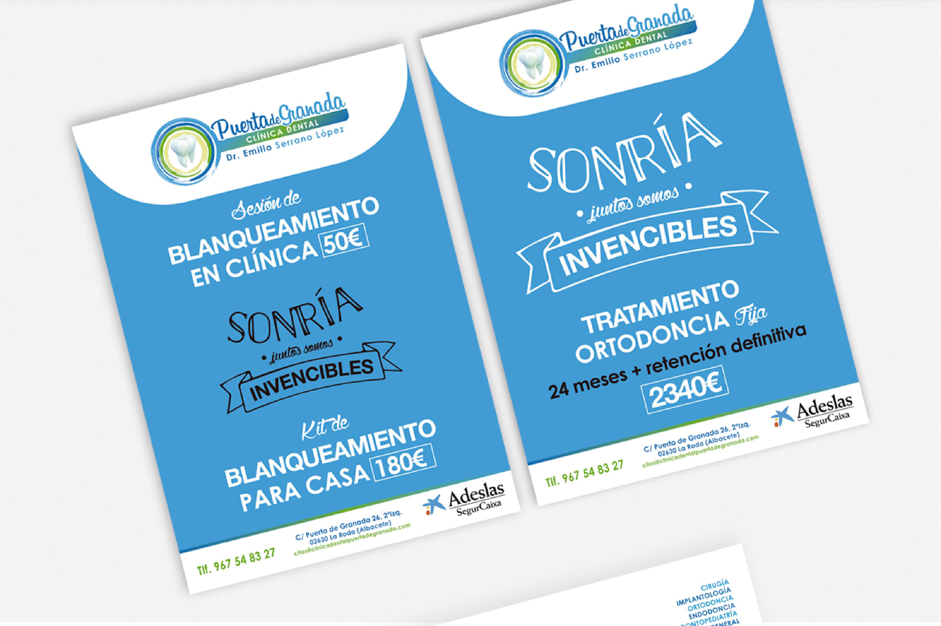 Diseño Gráfico Albacete, imprenta, diseño de folletos Albacete para Puerta de Granada