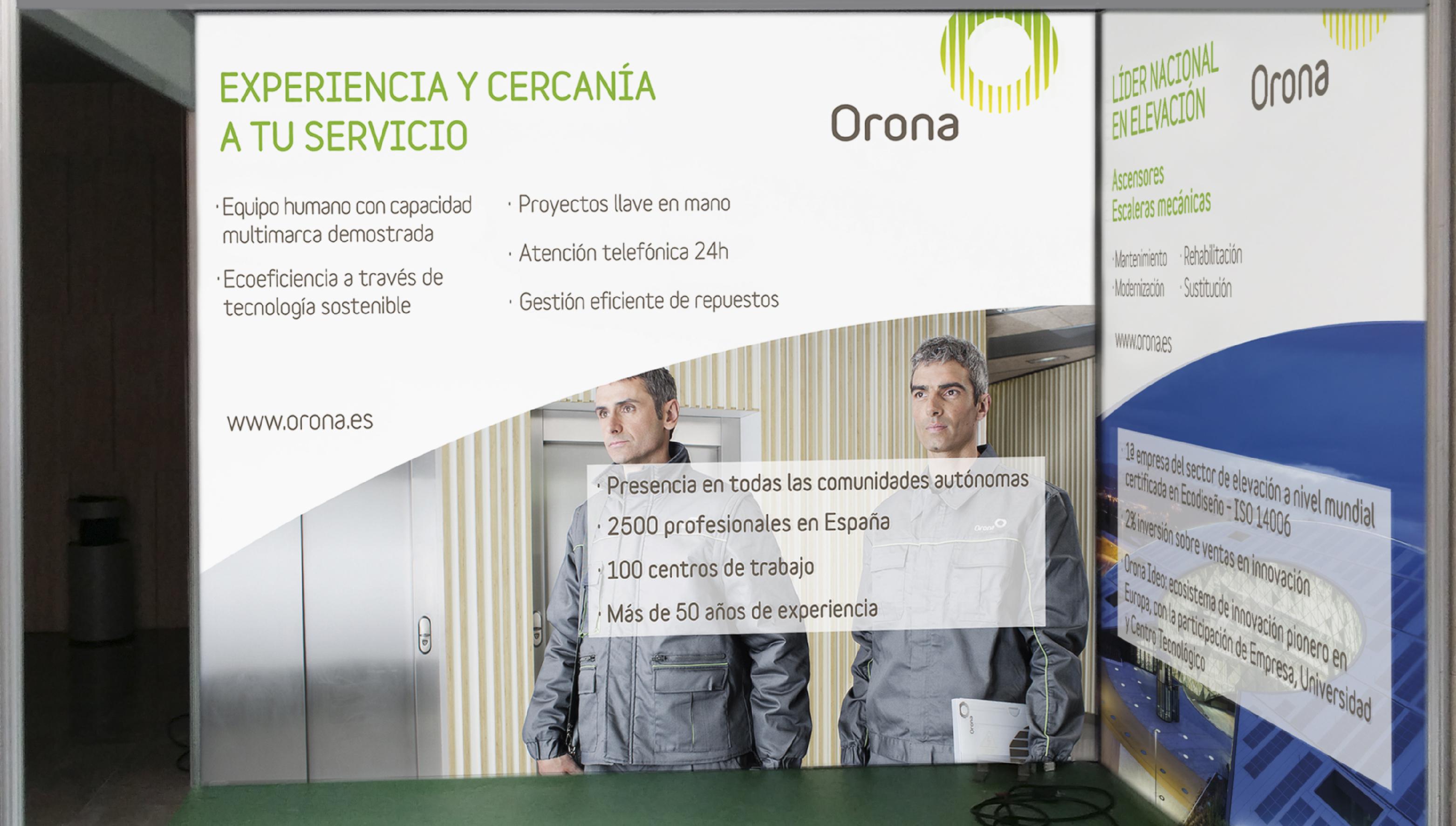 Impresión de Vinilos y Montaje de Stand Albacete para orona
