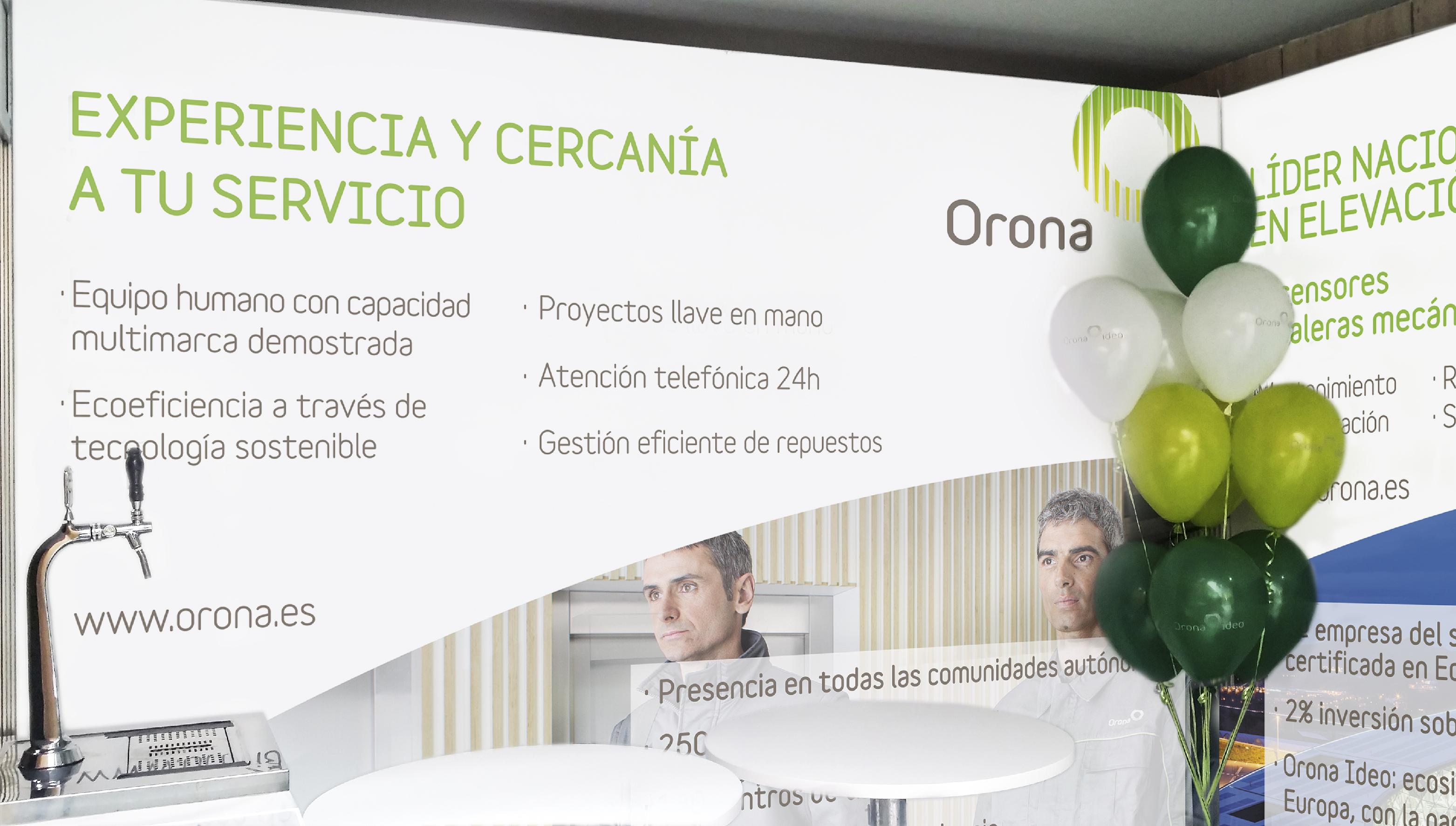 Impresión Gran Formato Albacete, montaje de stand para ferias Orona