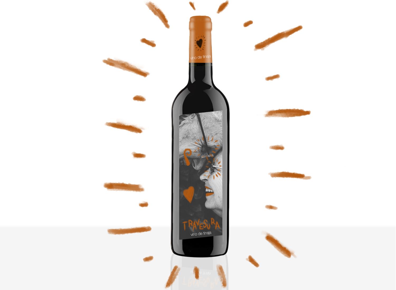 Diseño de etiquetas de vino, etiqueta con realidad aumentada Vino Travesura.
