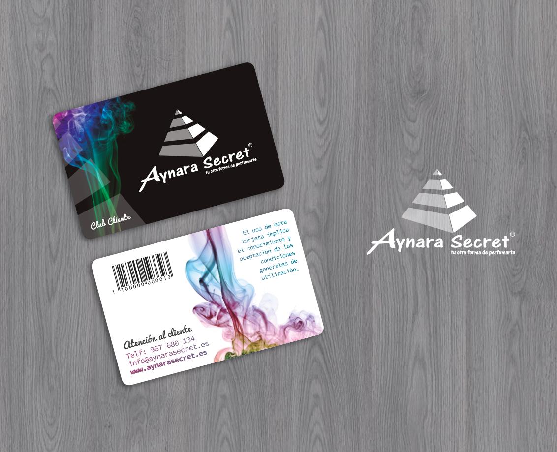 Diseño grafico albacete e impresión de tarjetas PVC Aynara Secret