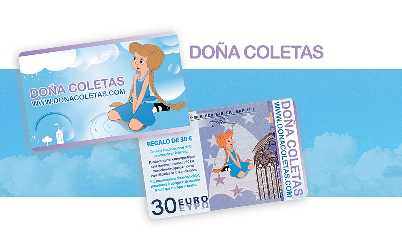 Tarjetas PVC, tarjetas de fidelización de clientes, Doña Coletas