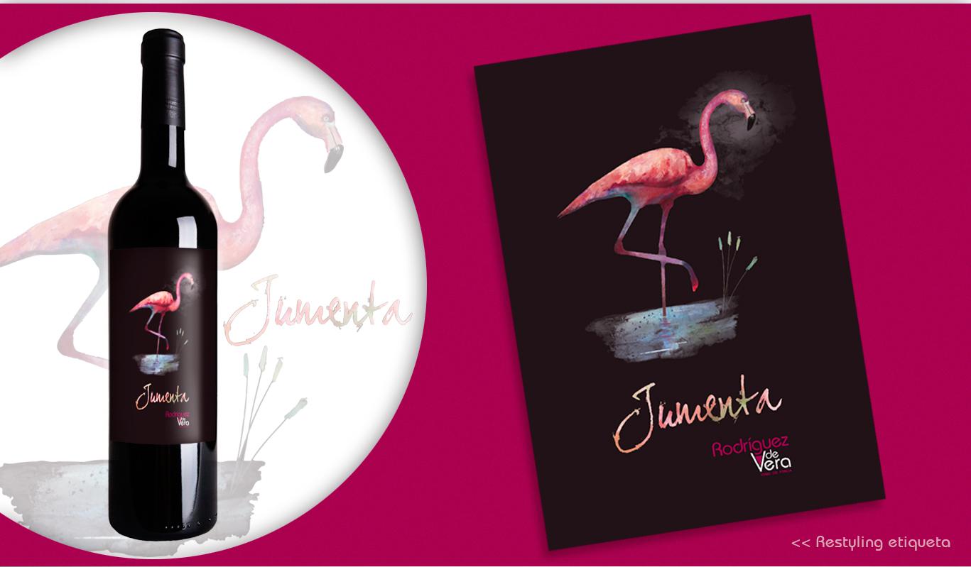 Diseño gráfico Albacete, diseño etiquetas vino, restyling etiquetas de vino, Jumenta, Rodríguez de Vera