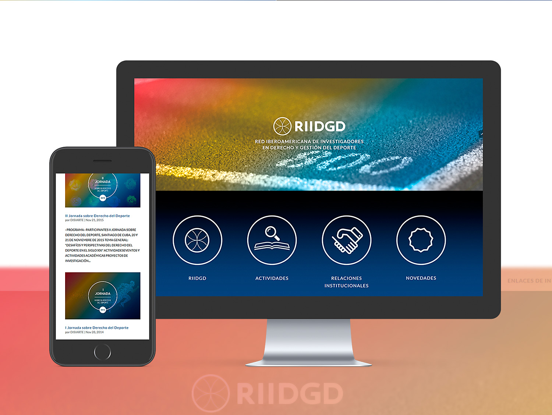 Diseño web corporativo a medida para RIIDGD