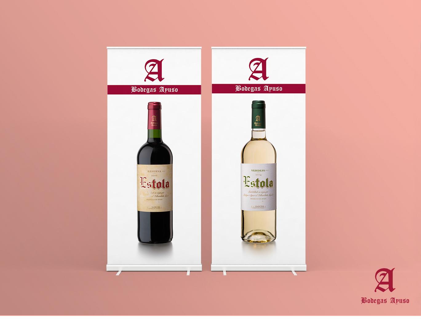 Diseño gráfico Albacete, diseño publicitario, diseño de rollup, impresión de rollup, Bodegas Ayuso