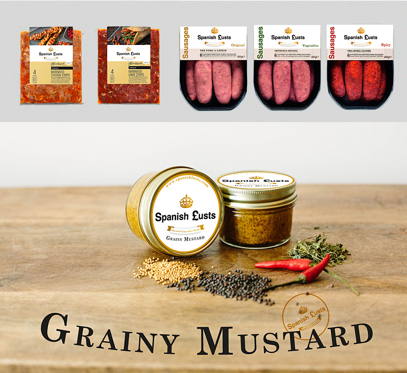 Diseño gráfico Albacete, diseño de packaging, fotografía de producto, packaging para productos de Spanish Lusts