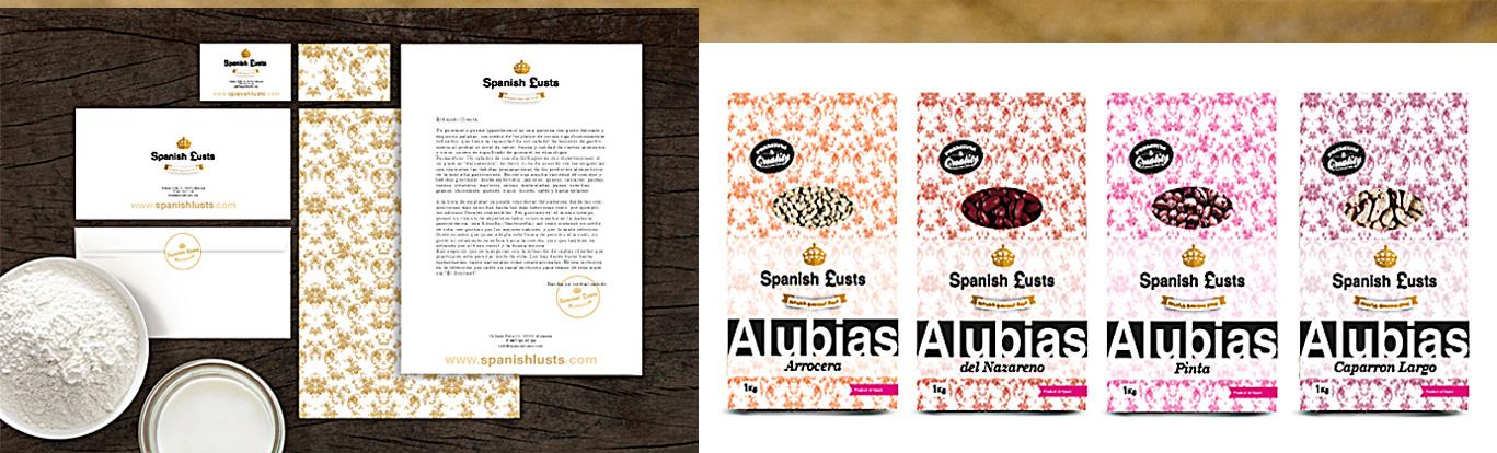 Diseño gráfico Albacete, diseño papelería corporativa, diseño de packaging, packaging para productos de Spanish Lusts