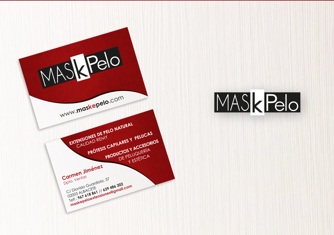 Diseño grafico Albacete, diseño tarjetas de visita Maskepelo