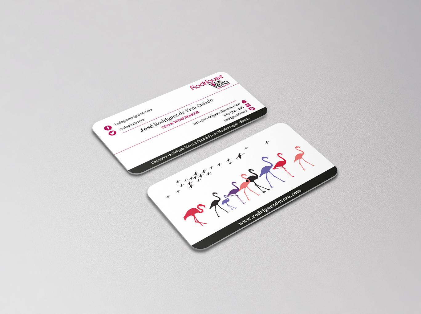 Diseño gráfico Albacete, diseño tarjetas de visita, impresión tarjetas de visita, Rodríguez de Vera