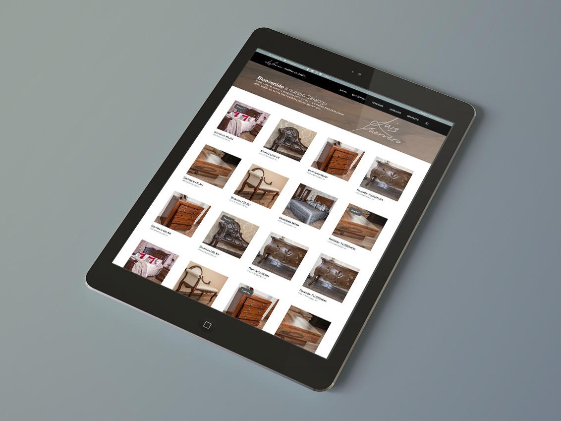 Diseño web empresa de muebles Luis Guerrero, diseño web Albacete, catálogo web, Luis Guerrero
