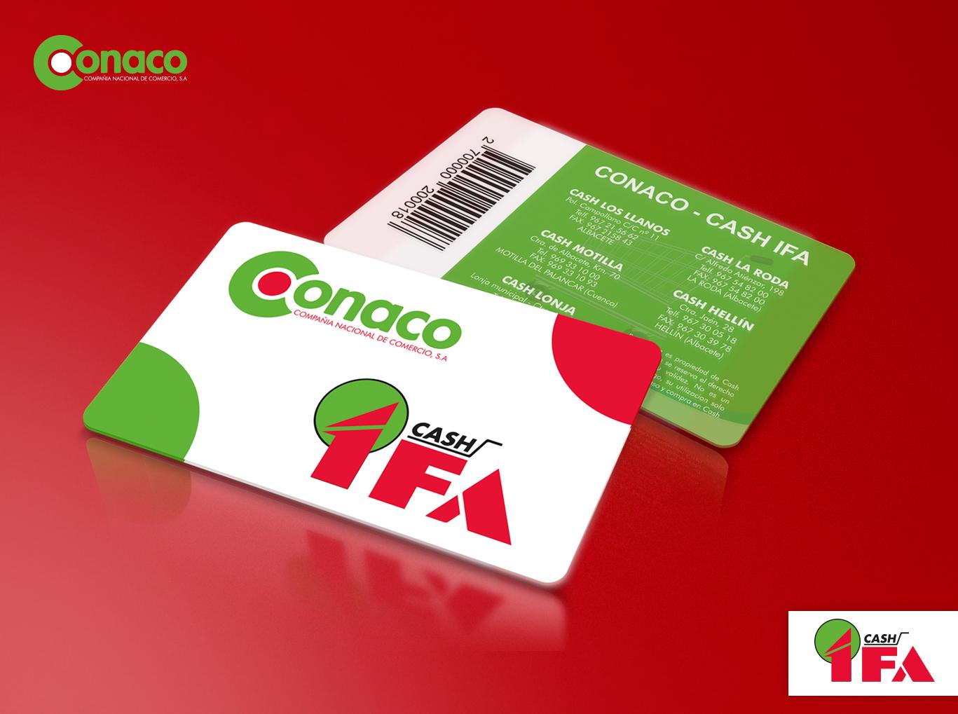 diseño de tarjetas, impresión de tarjetas PVC Albacete para IFA Conaco