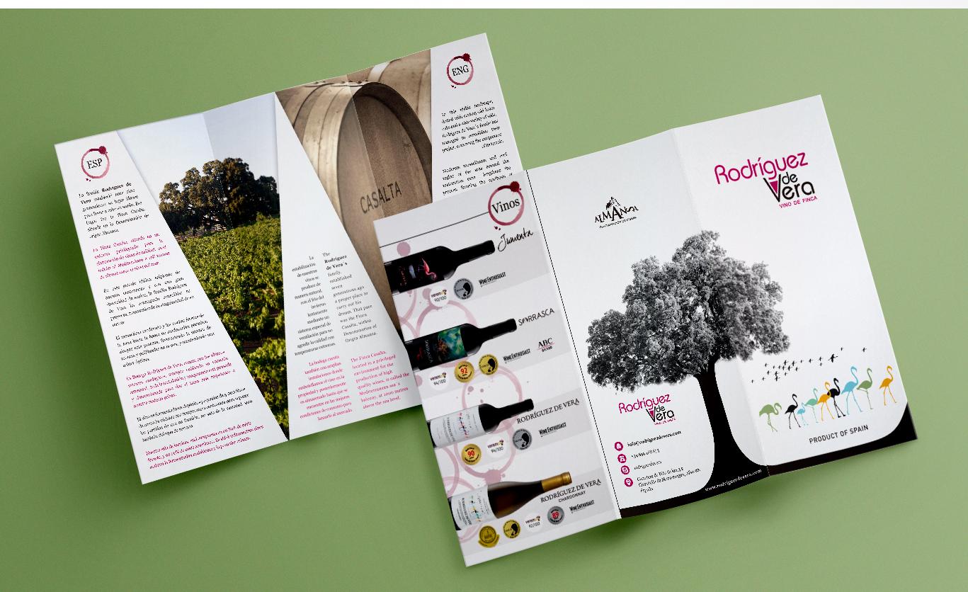 Diseño gráfico para empresas, diseño folletos y trip`ticos para bodegas.