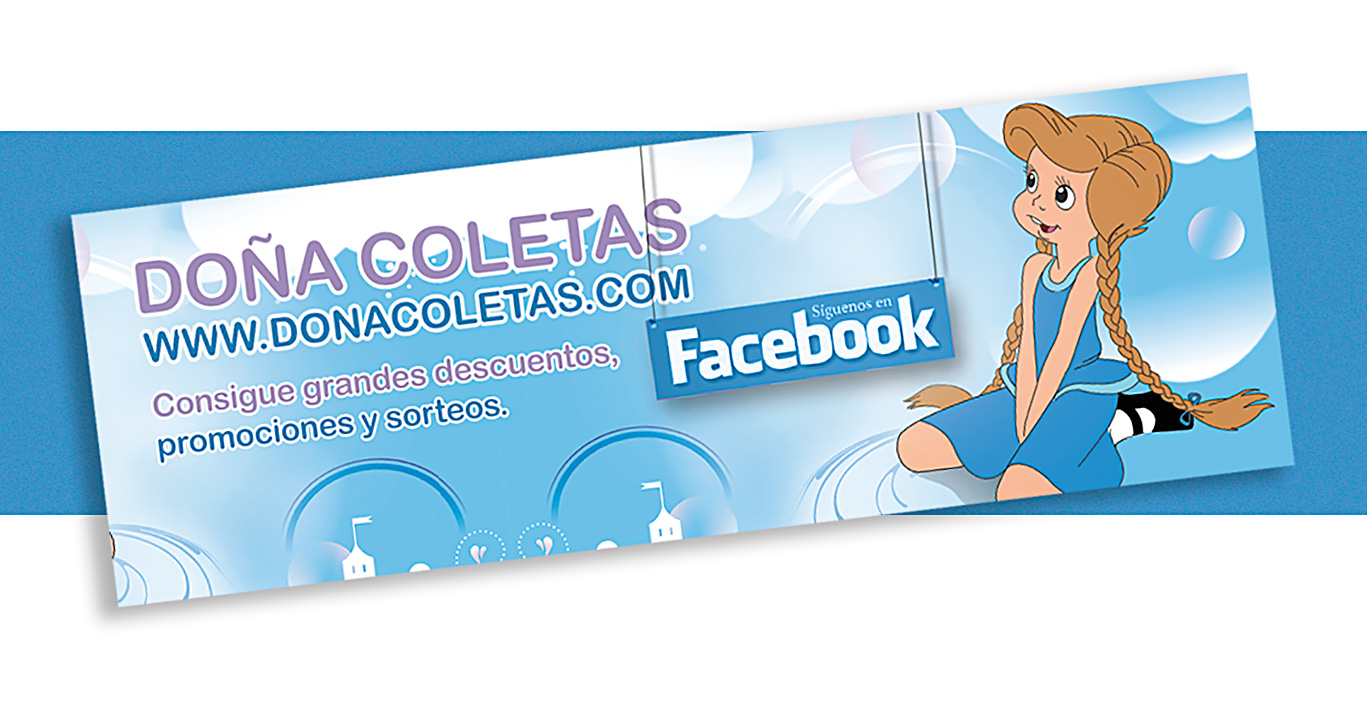 Diseño gráfico, vinilo Facebook Doña Coleta