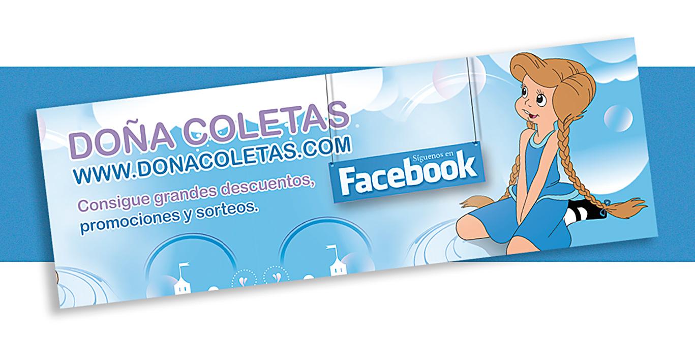 Diseño gráfico, vinilo Facebook Doña Coletas