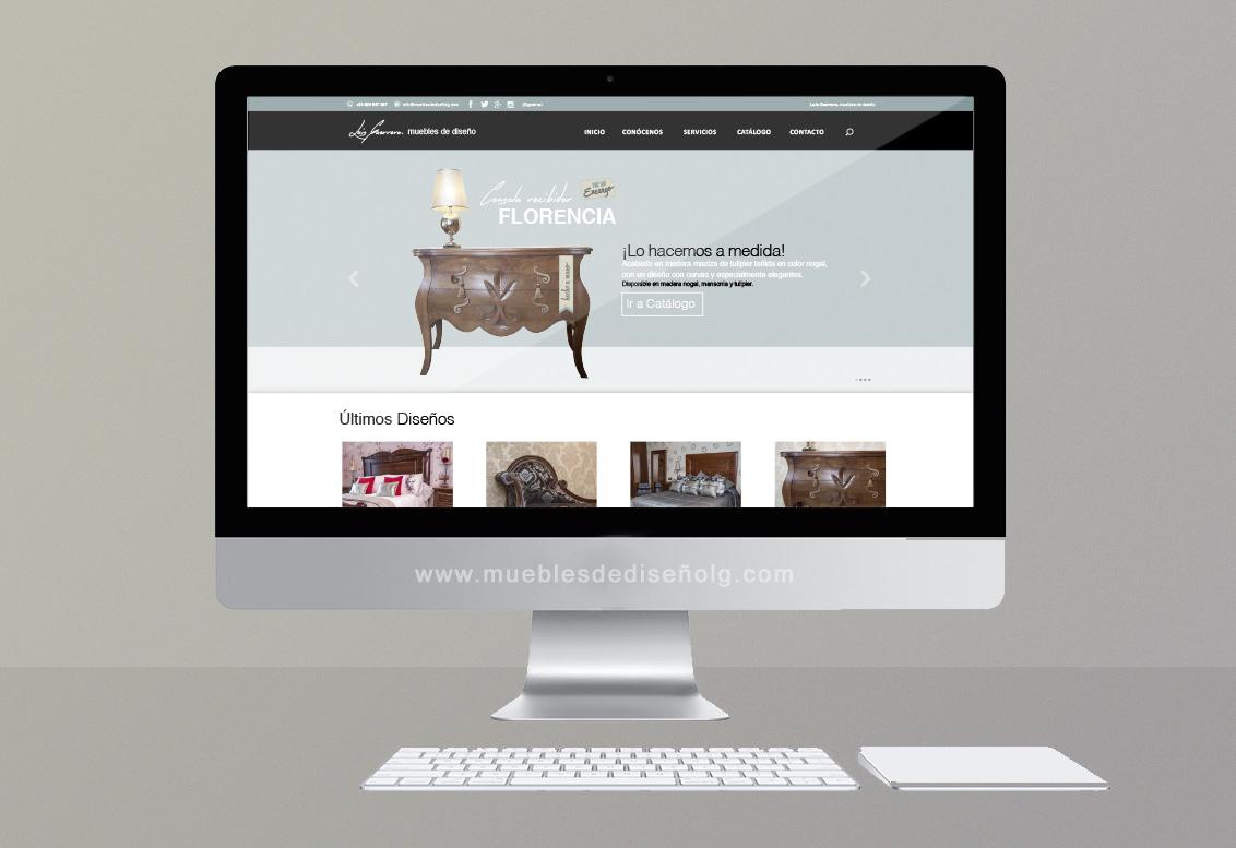 Diseño web empresa de muebles Luis Guerrero, diseño web Albacete, Luis Guerrero