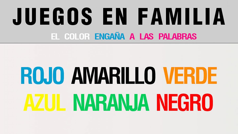 JUEGOS EN FAMILIA, el lenguaje del color y su importancia en el diseño