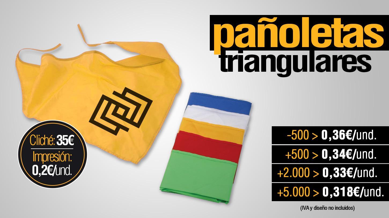 Pañoletas triangulares personalizadas, regalos publicitarios para empresas Albacete precios