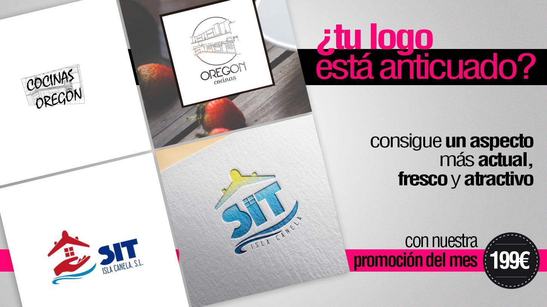 Empresa diseño logotipos Madrid. Promoción en restyling de marca.