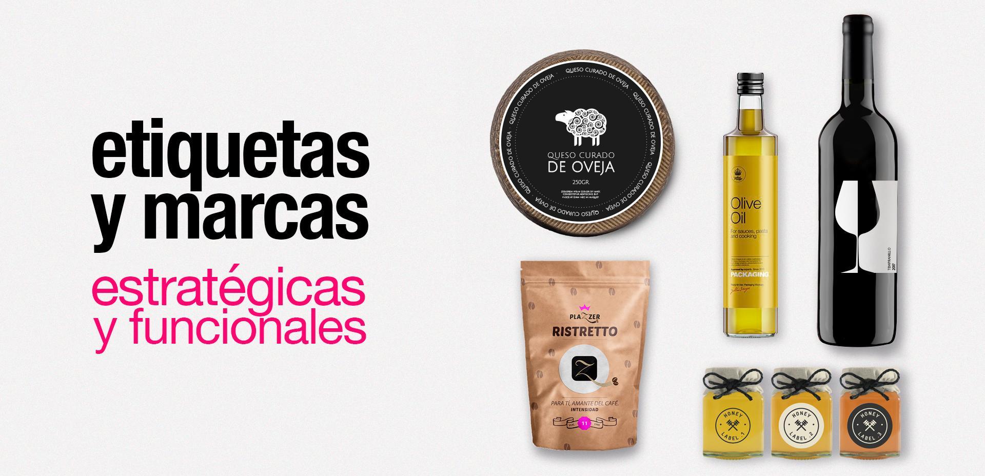 Diseño gráfico etiquetas productos, diseño etiquetas quesos, diseño etiquetas vinos, diseño etiquetas aceite Albacete