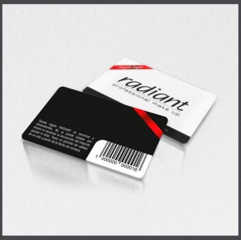 Tarjetas con códigos de barra, tarjetas con código de barra
