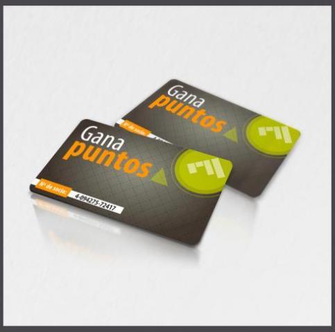 Tarjetas de puntos tarjetas plasticas de puntos