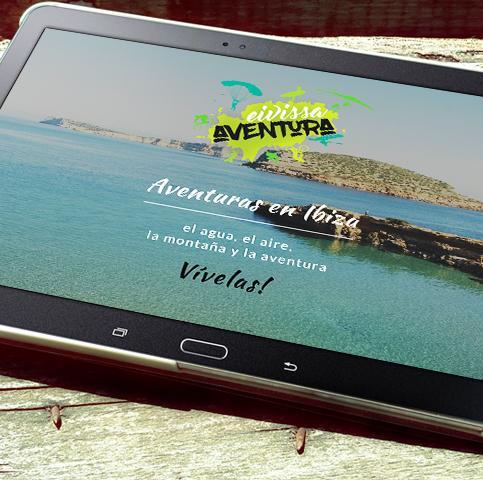 Diseño de marca, Diseño tienda online premium y posicionamiento web para empresa Eivissa Aventura