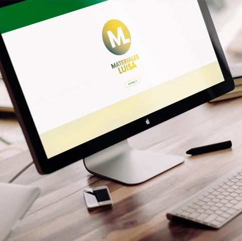 Diseño de marca, Diseño tienda online premium y posicionamiento web para empresa Materiales Luisa
